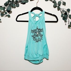 Baby Phat Halter top, Size large, Light blue